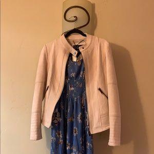 2/80 VEGAN LA coalition suede light pink jacket